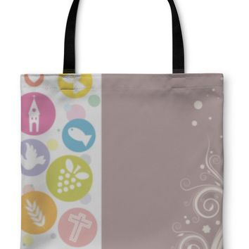 Tote Bag, First Communion Invitation Card