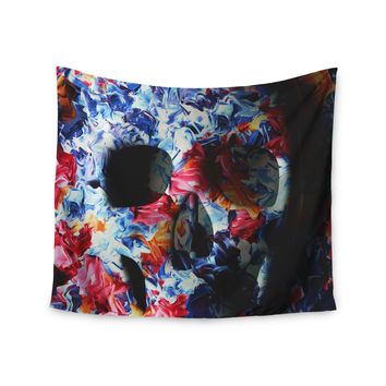 "Danny Ivan ""Skull Light"" Blue Pink Wall Tapestry"