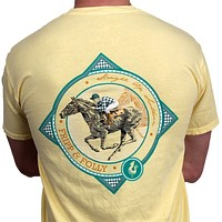 Race Horse Tee in Butter Yellow by Fripp & Folly
