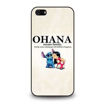 LILO AND STITCH OHANA FAMILY Disney iPhone 5 / 5S / SE Case Cover