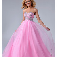 Nina Canacci NC-8004  Baby Pink Tulle & Beaded Bodice Ball Gown 2015 Prom Dresses