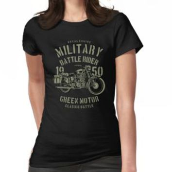'MILITARY MOTORCYCLE' T-Shirt by Super3