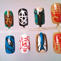 Supernatural Dean and Castiel False Nail set