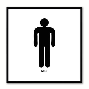 Man Social Media Icon Canvas Print Picture Frame Wall Art Home Decor