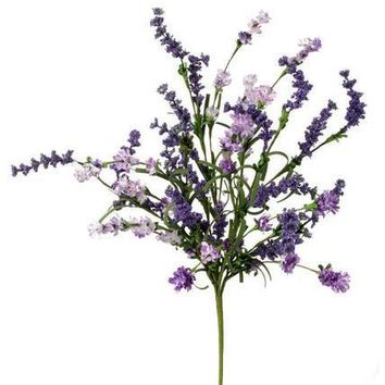 "Artificial Lavender Clover & Berry Bush - 18"" Tall"