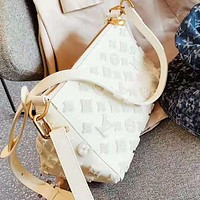 LV Louis Vuitton High Quality Fashion Women Leather Canvas Shoulder Bag Crossbody Satchel