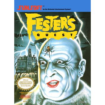 Retro Fester's Quest Game Poster//NES Game Poster//Video Game Poster//Vintage Game Cover Reprint
