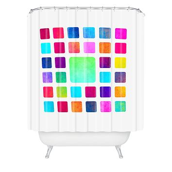 Elisabeth Fredriksson Squares Shower Curtain