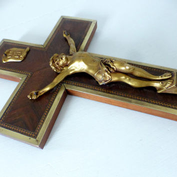 Antique French, Wall Crucifix