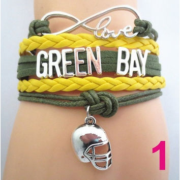 Infinity Love GREEN BAY State Packers football Team Bracelet Customized Wristband friendship Bracelets [8834067404]