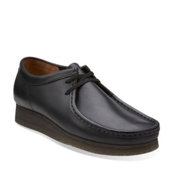 Wallabee Black Leather