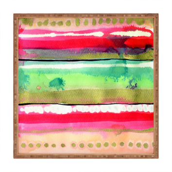 CayenaBlanca Ink Stripes Square Tray