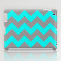 Chevron Turquoise iPad Case by Alice Gosling