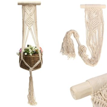 Pot Holder String Hanging Rope Wall Art Home Balcony Decoration Garden Supplies
