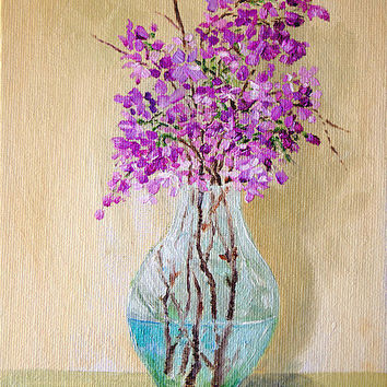 Original Oil Painting Lilac Flowers by JBeaudetStudios on Etsy
