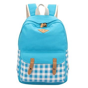 Comfort Back To School On Sale Stylish Casual College Hot Deal Korean Canvas Big Capacity Backpack [6304975812]