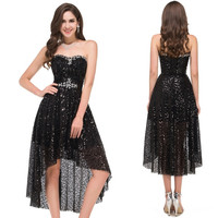 Grace Karin Strapless Sequins High-Low Ball Cocktail Evening Prom Party Dress 8 Size US 2~16 = 5739028161