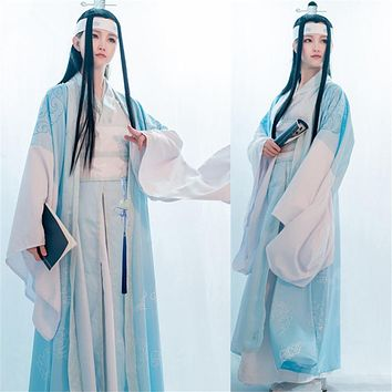 New Anime Lan Wangji Cosplay Grandmaster of Demonic Cultivation Custom Cosplay Costume Lan Wangji Adult Ver. Costume Mo Dao Zu Shi
