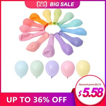 Unicorn Party 100pcs 10inch Macaron Color Latex Balloon Wedding Decoration Baby Birthday Party Valentine's Day Decor Balloon