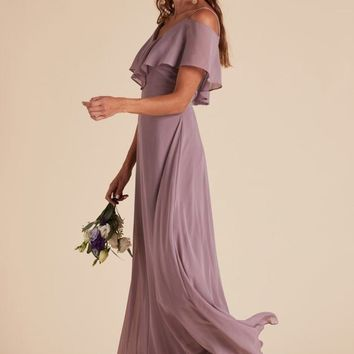 Autumn Flutter Sleeve Dress - Mauve