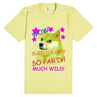WOW! SO PARTY! Funny Doge Shibe Meme-Unisex Lemon T-Shirt