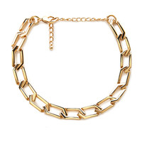 FOREVER 21 Chain-Link Choker Gold One