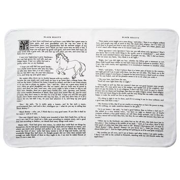 Black Beauty Storybook Baby Blanket