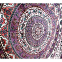 Psychedelic Star Elephant Mandala Bedspread Wall Hanging Tapestry Dorm Decor