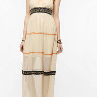 Ecote Embroidered Gauze Maxi Dress