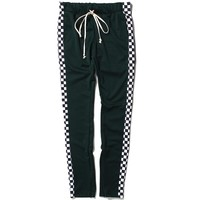 Racing Track Pants Green Checker
