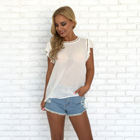 Dress Up Blouse In White