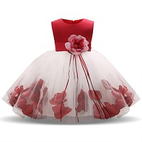 Toddler Girl First Birthday Dress Clothing Infant Princess wedding party Costume Baby Girl Party Dress For 3 6 9 12 18 24 Months