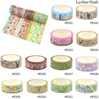 Lychee Craft Paper Tape Craft Cute Totoro Washi Tape Anime DIY Scrapbooking Decor Art Wall Paper Sticker Gift Packing Decorative