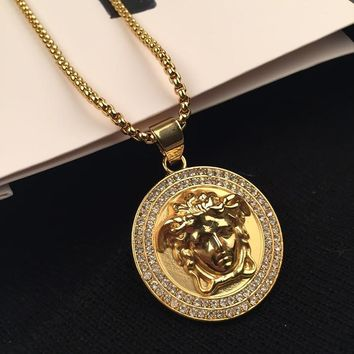 Gift Shiny Stylish New Arrival Jewelry Hot Sale Fashion Accessory Hip-hop Korean Couple Necklace [6542786947]