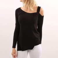 Womens One Off-Shoulder Loose Tops