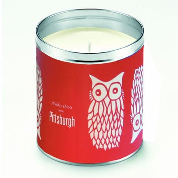 Kate's Nordic Owls Red Candle