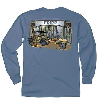 The Transport Long Sleeve T-Shirt in Marine Blue by Fripp Outdoors