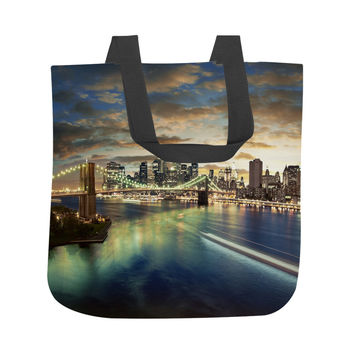 NYC On The Hudson Tote Bag