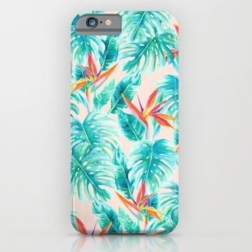 Tropical Paradise Pale Peach iPhone & iPod Case by Jacqueline Maldonado | Society6