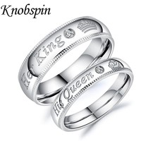 Fashion Simple Wedding Rings For Lovers Romantic Cubic Zirconia 7mm Engagement Forever Love Couple Ring for Men Women
