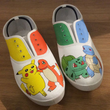 Custom Pokemon Canvas Shoes