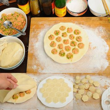 New Dumpling Mold Maker Kitchen Dough Press Ravioli DIY 19 Holes Dumplings Maker Mold