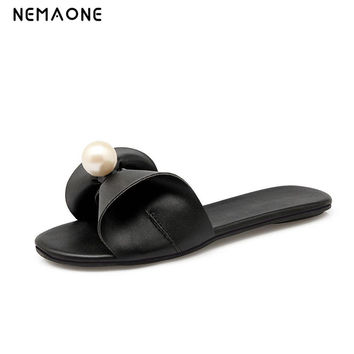 NEMAONE New 2017 women flip flops Beach sandals fashion Bling slippers summer women flats shoes woman flat sandals