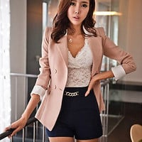 2014 Vintage elegant coat medium-long outerwear women's slim suit blazer jacket