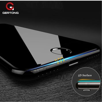Curved Edge 5D Tempered Glass For iPhone X 8 7 6 S 6S 7 Plus Full Cover Screen Protector Protection Phone Case 4D Upgrade Film