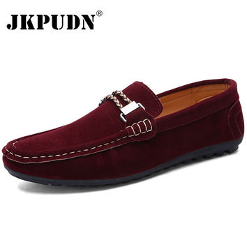 British Style Leather Men Shoes Luxury Brand Penny Loafers Italian Fashion Designer Shoes Men High Quality Casual Flats Zapatos