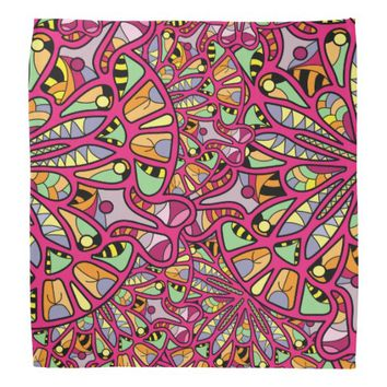 Kaleidoscopic Multicolored Abstract Pattern Bandana
