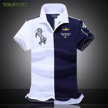 CREYLD1 NEW Summer new men's boutique embroidery breathable 100% cotton polo shirt lapel Men's Air Force One polo shirt size M-XXL