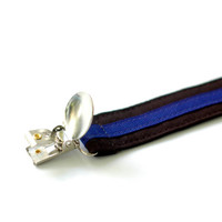 POLICE BABY Thin Blue Line pacifer clip, pacifier clips boy, pacifier clip girl