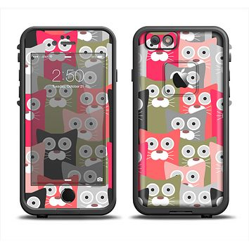 The Colorful Hypnotic Cats Apple iPhone 6 LifeProof Fre Case Skin Set